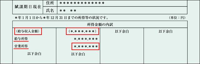 課税 書 は と 証明 所得